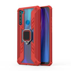 Predator Armor Metal Ring Grip Shockproof Dual Layer Rugged Hard Cover for Mi Xiaomi Redmi Note 8 - Red