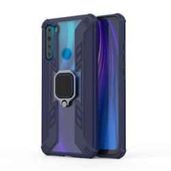 Predator Armor Metal Ring Grip Shockproof Dual Layer Rugged Hard Cover for Mi Xiaomi Redmi Note 8 - Blue