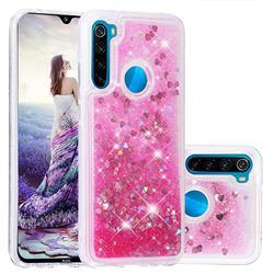 Dynamic Liquid Glitter Quicksand Sequins TPU Phone Case for Mi Xiaomi Redmi Note 8 - Rose