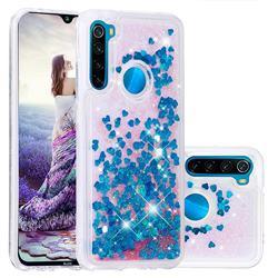 Dynamic Liquid Glitter Quicksand Sequins TPU Phone Case for Mi Xiaomi Redmi Note 8 - Blue