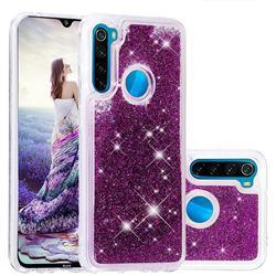 Dynamic Liquid Glitter Quicksand Sequins TPU Phone Case for Mi Xiaomi Redmi Note 8 - Purple