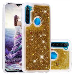 Dynamic Liquid Glitter Quicksand Sequins TPU Phone Case for Mi Xiaomi Redmi Note 8 - Golden