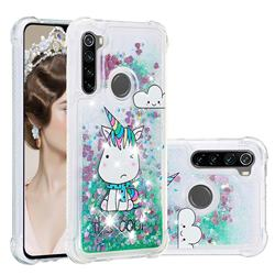 Tiny Unicorn Dynamic Liquid Glitter Sand Quicksand Star TPU Case for Mi Xiaomi Redmi Note 8