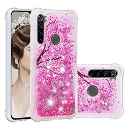 Pink Cherry Blossom Dynamic Liquid Glitter Sand Quicksand Star TPU Case for Mi Xiaomi Redmi Note 8