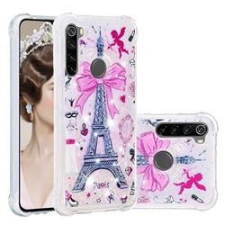 Mirror and Tower Dynamic Liquid Glitter Sand Quicksand Star TPU Case for Mi Xiaomi Redmi Note 8