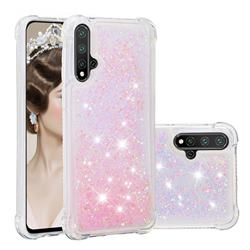 Dynamic Liquid Glitter Sand Quicksand TPU Case for Mi Xiaomi Redmi Note 8 - Silver Powder Star
