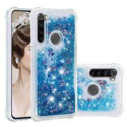 Dynamic Liquid Glitter Sand Quicksand TPU Case for Mi Xiaomi Redmi Note 8 - Blue Love Heart
