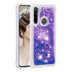 Dynamic Liquid Glitter Sand Quicksand Star TPU Case for Mi Xiaomi Redmi Note 8 - Purple