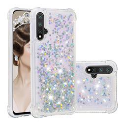 Dynamic Liquid Glitter Sand Quicksand Star TPU Case for Mi Xiaomi Redmi Note 8 - Silver