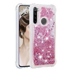 Dynamic Liquid Glitter Sand Quicksand Star TPU Case for Mi Xiaomi Redmi Note 8 - Diamond Rose