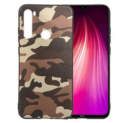 Camouflage Soft TPU Back Cover for Mi Xiaomi Redmi Note 8 - Gold Coffee