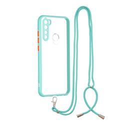 Necklace Cross-body Lanyard Strap Cord Phone Case Cover for Mi Xiaomi Redmi Note 8 - Blue