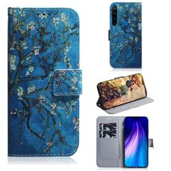 Apricot Tree PU Leather Wallet Case for Mi Xiaomi Redmi Note 8