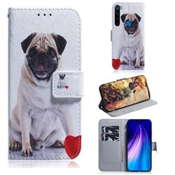 Pug Dog PU Leather Wallet Case for Mi Xiaomi Redmi Note 8
