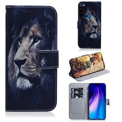 Lion Face PU Leather Wallet Case for Mi Xiaomi Redmi Note 8