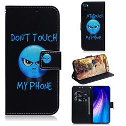 Not Touch My Phone PU Leather Wallet Case for Mi Xiaomi Redmi Note 8