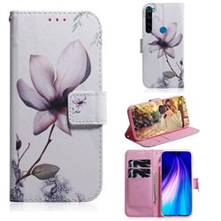 Magnolia Flower PU Leather Wallet Case for Mi Xiaomi Redmi Note 8
