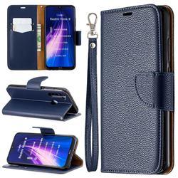 Classic Luxury Litchi Leather Phone Wallet Case for Mi Xiaomi Redmi Note 8 - Blue