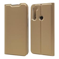 Ultra Slim Card Magnetic Automatic Suction Leather Wallet Case for Mi Xiaomi Redmi Note 8 - Champagne