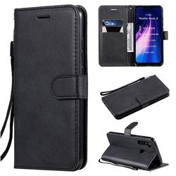 Retro Greek Classic Smooth PU Leather Wallet Phone Case for Mi Xiaomi Redmi Note 8 - Black