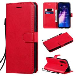 Retro Greek Classic Smooth PU Leather Wallet Phone Case for Mi Xiaomi Redmi Note 8 - Red