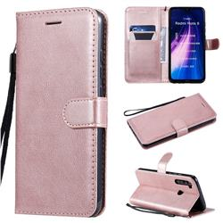 Retro Greek Classic Smooth PU Leather Wallet Phone Case for Mi Xiaomi Redmi Note 8 - Rose Gold