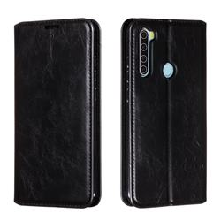 Retro Slim Magnetic Crazy Horse PU Leather Wallet Case for Mi Xiaomi Redmi Note 8 - Black