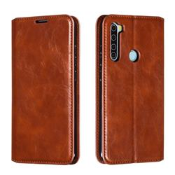 Retro Slim Magnetic Crazy Horse PU Leather Wallet Case for Mi Xiaomi Redmi Note 8 - Brown
