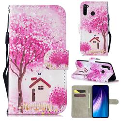 Tree House 3D Painted Leather Wallet Phone Case for Mi Xiaomi Redmi Note 8