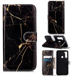 Black Gold Marble PU Leather Wallet Case for Mi Xiaomi Redmi Note 8