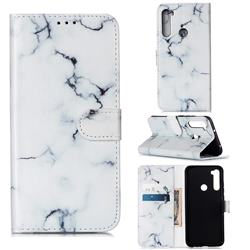 Soft White Marble PU Leather Wallet Case for Mi Xiaomi Redmi Note 8