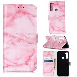 Pink Marble PU Leather Wallet Case for Mi Xiaomi Redmi Note 8