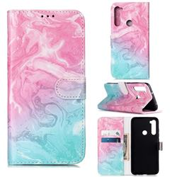 Pink Green Marble PU Leather Wallet Case for Mi Xiaomi Redmi Note 8
