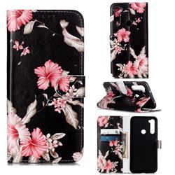 Azalea Flower PU Leather Wallet Case for Mi Xiaomi Redmi Note 8