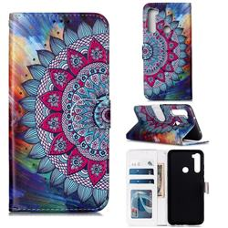 Mandala Flower 3D Relief Oil PU Leather Wallet Case for Mi Xiaomi Redmi Note 8