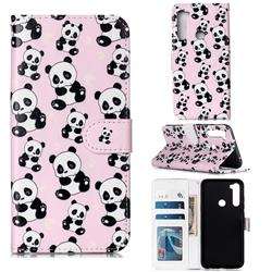 Cute Panda 3D Relief Oil PU Leather Wallet Case for Mi Xiaomi Redmi Note 8