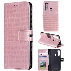 Luxury Crocodile Magnetic Leather Wallet Phone Case for Mi Xiaomi Redmi Note 8 - Rose Gold