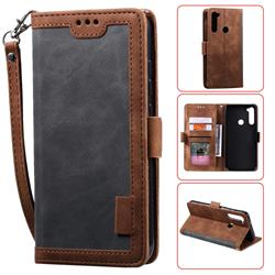 Luxury Retro Stitching Leather Wallet Phone Case for Mi Xiaomi Redmi Note 8 - Gray