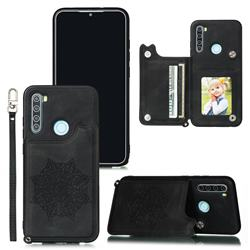 Luxury Mandala Multi-function Magnetic Card Slots Stand Leather Back Cover for Mi Xiaomi Redmi Note 8 - Black