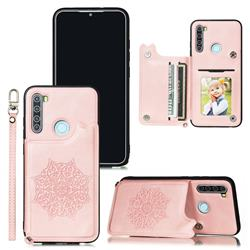 Luxury Mandala Multi-function Magnetic Card Slots Stand Leather Back Cover for Mi Xiaomi Redmi Note 8 - Rose Gold