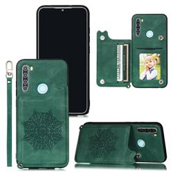 Luxury Mandala Multi-function Magnetic Card Slots Stand Leather Back Cover for Mi Xiaomi Redmi Note 8 - Green