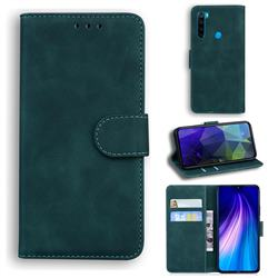 Retro Classic Skin Feel Leather Wallet Phone Case for Mi Xiaomi Redmi Note 8 - Green