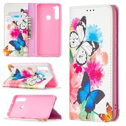 Flying Butterflies Slim Magnetic Attraction Wallet Flip Cover for Mi Xiaomi Redmi Note 8