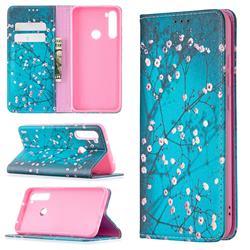 Plum Blossom Slim Magnetic Attraction Wallet Flip Cover for Mi Xiaomi Redmi Note 8