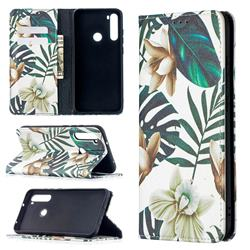 Flower Leaf Slim Magnetic Attraction Wallet Flip Cover for Mi Xiaomi Redmi Note 8