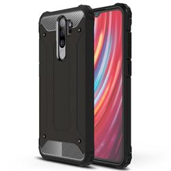 King Kong Armor Premium Shockproof Dual Layer Rugged Hard Cover for Mi Xiaomi Redmi Note 8 Pro - Black Gold