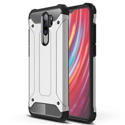 King Kong Armor Premium Shockproof Dual Layer Rugged Hard Cover for Mi Xiaomi Redmi Note 8 Pro - White