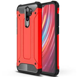 King Kong Armor Premium Shockproof Dual Layer Rugged Hard Cover for Mi Xiaomi Redmi Note 8 Pro - Big Red