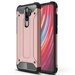 King Kong Armor Premium Shockproof Dual Layer Rugged Hard Cover for Mi Xiaomi Redmi Note 8 Pro - Rose Gold