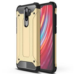 King Kong Armor Premium Shockproof Dual Layer Rugged Hard Cover for Mi Xiaomi Redmi Note 8 Pro - Champagne Gold
